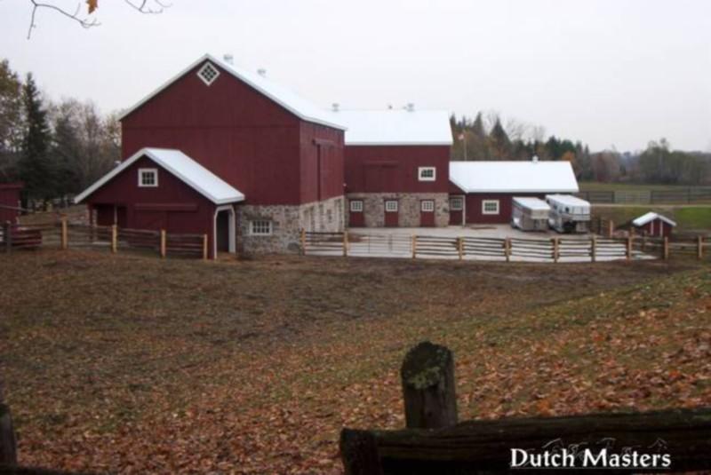 Coffey creek restoration dutch masters horse barn for Barn builders ontario