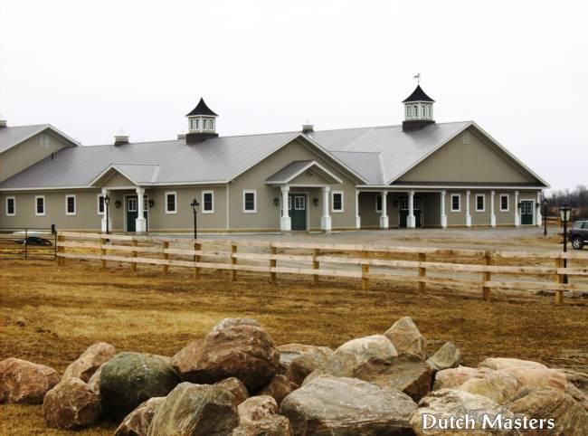 Quaker valley farm dutch masters horse barn builders ontario for Pole barns ontario