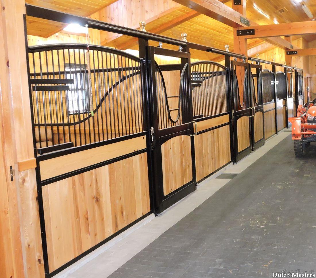 Custom stall design dutch masters horse barn builders for Barn builders ontario
